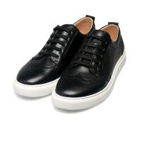 Buy cheap high quality black lace-up shoes cowhide sneakers brand couples sneakers lovers sneakers designer sneakers BS-B7 from wholesalers