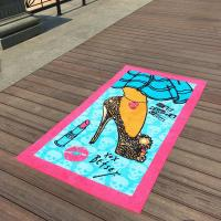 Buy cheap Lavender Girl Patterned Beach Towels Beauty Lipsticks For Beach Chair Covers from wholesalers