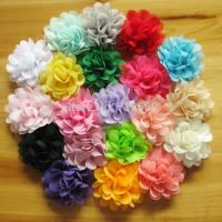 Buy cheap 5cm satin chiffon flowers for baby girls headbands hairband hair ornaments children hair a from wholesalers