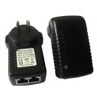 Buy cheap 48V 1A 48W 220V AC Poe Power Adapter RJ45 , Wall Mount Poe Power Supply product