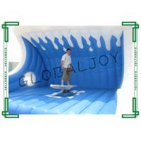 Buy cheap Blue Inflatable Sport Game Mechanical Surfboard Fire Retardant from wholesalers