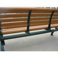Buy cheap Green Aluminium Frame Composite Garden Bench , Public Place Synthetic Wood Bench from wholesalers