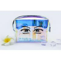 Buy cheap Women makeup organizer travel toiletry bags/ transparent PVC cosmetic, bag with cotton binding, makeup bag pvc cosmetic from wholesalers