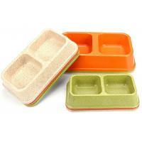 Medium Sized Plastic Pet Bowls Bamboo Powder Rice Orange Color 275g Eco Friendly