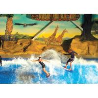 Buy cheap Double / Single Flowrider Water Ride Blue Colored Surfing Simulator Machine With Fiberglass Material product