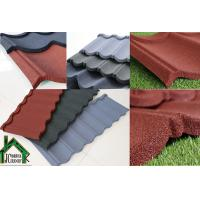 Buy cheap Building mateiral Stone Chip Coated Metal Roof Tiles 0.38mm - 0.50mm Thickness from wholesalers
