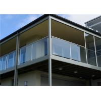 Buy cheap porch post base structural glass parapet tempered glass railing from wholesalers