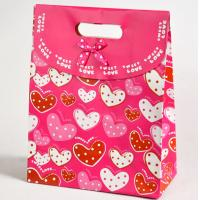 Recyclable Luxury Paper Gift Bags with Handle , Colorful Shopping Paper Bags for Gifts