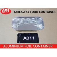 Buy cheap A011 Aluminum Foil Container Rectangle Shape Foil Container 22.5cm x 11cm x 6cm 850ml volume For  Foods Packaging from wholesalers