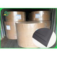 Buy cheap FSC SGS FDA Certified 350gsm 400gsm Black Cardboard For Notebook Covers from wholesalers