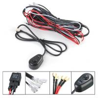 Buy cheap 12V 2.5m LED Light Bar Wiring Harness Kit For Car Black , Red Color from wholesalers