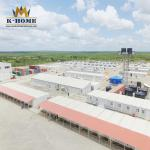 Buy cheap Oil and gas field Pipeline construction site Modular portable container camp durable steel structure from wholesalers