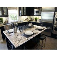 Buy cheap Modern Stone Slab Countertop Kitchen Designs White Rose Granite Countertop from wholesalers