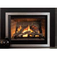 Classic Designed Direct Vent Gas Fireplace Remote Control Big Front View