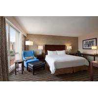 Buy cheap Hotel Room Furniture Cherry Wood King size Bed and Desk set in Modern American design style from wholesalers