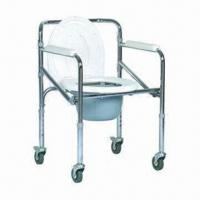 Buy cheap Foldable Commode Chair, Multifunction, Half Galvanized and Powder Plating, Made of Steel product