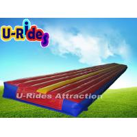 Buy cheap Red Gymnastics Air Track Durable Inflatable Air Tumble Track With CE , UL Certificate from wholesalers
