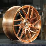Buy cheap BA53 Rose gold Forged Monoblock Rims cheap Custom Benz BMW Audi Wheel alloy from wholesalers