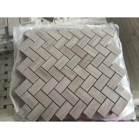 Buy cheap Chinese Wood Light Grain And Athens Gray Marble Grey Floor Mosaic Tile Athens grey marble mosaic tiles for wall from wholesalers