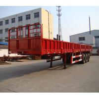 Buy cheap 60 Tons Heavy Duty Side Wall Semi Trailer Thickness 2mm Height 600mm from wholesalers
