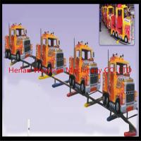 Buy cheap 10% disaccount of  31M track 16seats truck shape electric rail trains for kiddies and adults from wholesalers