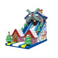 Buy cheap Windmill Merry Christmas Custom Theme Big Festival Inflatable Dry Slide For Party from wholesalers