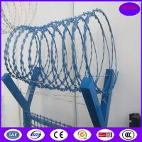 Buy cheap Hot Dipped Galvanized BTO-22 2.5MM 900mm 13 kg Concertina Razor Barbed Wire from wholesalers