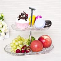 Quality Two tier cake plate decorative glass cake cupcake stand wholesale for sale