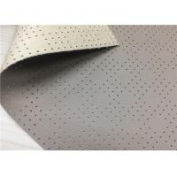 Buy cheap Light Brown Faux Leatherette Fabric , Automotive Interior Polyurethane Faux Leather Fabric from wholesalers