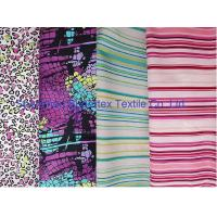 Buy cheap Weft Cotton Poplin Elastic Stretch Fabric  Reactive Print  for Shirt and Dresses from wholesalers