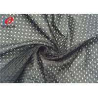 China Warp Knitte Big Hole Sports Mesh Fabric , Polyester Jersey Net Material Breathable Fabric on sale