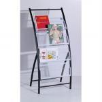 Buy cheap Antique Wall Mounted Floor Metal Magazine Rack Newspaper Display Shelf DX-K133 from wholesalers