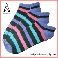 Buy cheap Colourful Striped Low Cut Cotton Ankle Socks from wholesalers