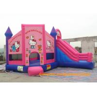 Buy cheap Customized Outdoor Playground Inflatable Bouncy Castle , Inflatable Hello Kitty  Bouncer For Rent from wholesalers