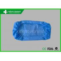Buy cheap Dust Free Blue Sms Disposable Bed Pads Sheets With Elastic On Two Ends from wholesalers