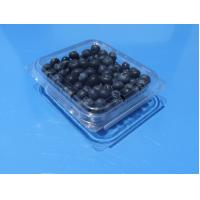 Buy cheap Disposable plastic fruit  packaging box with holes blueberry 125 grams packaging container PET plastic blueberry punnets product