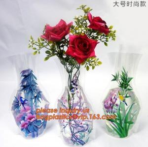 China artificial foldable pvc decorative wedding plastic vase,pp plastic flower sleeve bag,pp transparent flower single rose s on sale