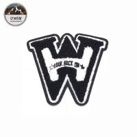 Buy cheap W Shape Felt Embroidered Sports Patches Sew On 12 * 12.5CM Size For Jackets from wholesalers