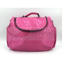 Buy cheap Pink Satin Quilted Tote Diaper Bags With Strap Easy Carry Big Capacity from wholesalers