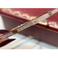 Buy cheap 18k Pink Gold Cartier Love Bracelet Pave Diamonds Small Model N6710717 from wholesalers