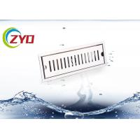 China Rectangle Fold Edge Bathroom Floor Drain Durable 316 Stainless Steel Material on sale