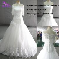 Buy cheap 2014 Latest Fashion C-005 Designer Customized Handmade Beaded Lace Wedding Gown from wholesalers