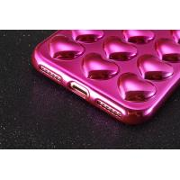 Buy cheap Plating TPU 3D Love Heart Cell Phone Case Back Cover for iPhone 7 7 plus 6 6s 6 Plus 6s Plus with Lanyard from wholesalers
