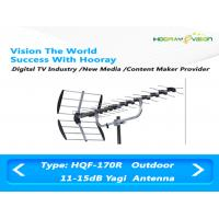 Buy cheap Outdoor Terrestrial Yagi Directional Antenna Gray / Sliver / Black 470-862MHz Frequency Range from wholesalers