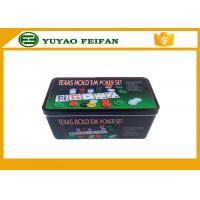 Buy cheap 4g Plastic Poker Chips Sets Professional Poker Set Square Tin Box Packaging from wholesalers