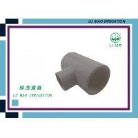 Buy cheap Injection Plastic Irrigation Fittings Equal Tee 1000 lbs Pressure 1 / 2  - 8  from wholesalers