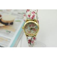 Buy cheap 2015 Brand New Ladies Floral Fabric Band Watch Summer Watch,Women Flower Cloth Watch from wholesalers