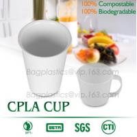 Buy cheap 16 oz PLA compostable coffee paper cup with CPLA compostable lid,100% compostable pla coated paper cup 6OZ with CPLA Lid from wholesalers