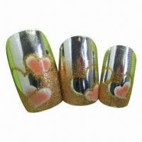 Buy cheap Artificial fingernails with printing, plate, any designs are available, 12 pieces/set from wholesalers