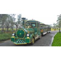 Buy cheap European Mini 3 Carriages 60 Passengers Electric Trackless Train with Lead-acid Battery from wholesalers